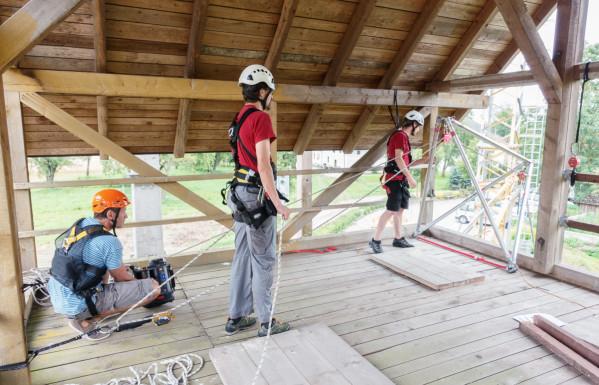 Training mit der ActSafe Ausrüstung am Schachthaus