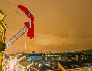 Die Nike landet in Linz - Fotograf Hermann Erber