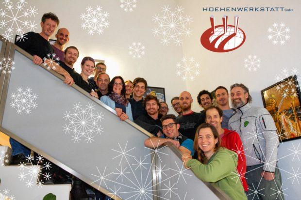 Team HOEHENWERKSTATT Weihnachten 2019